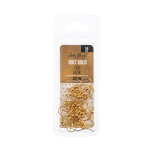 96104019-00 Earring Fish Hook 18mm - 18kt Goldplated (Pack)