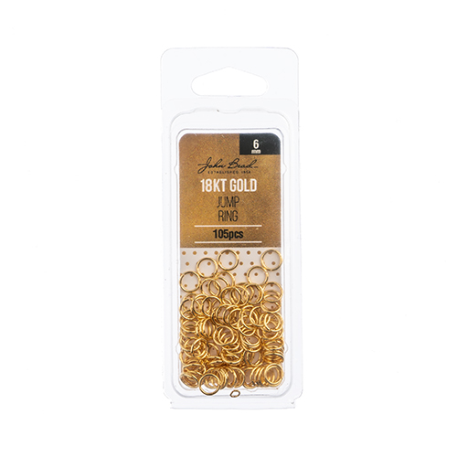 96104019-04 Jump Ring Open 6mm / 21ga - 18kt Goldplated (Pack)