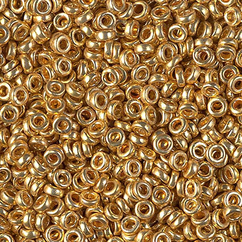 MSPR3-4202 Japanese Seedbeads - 3mm Miyuki Spacer Beads - Duracoat Galvanized Gold