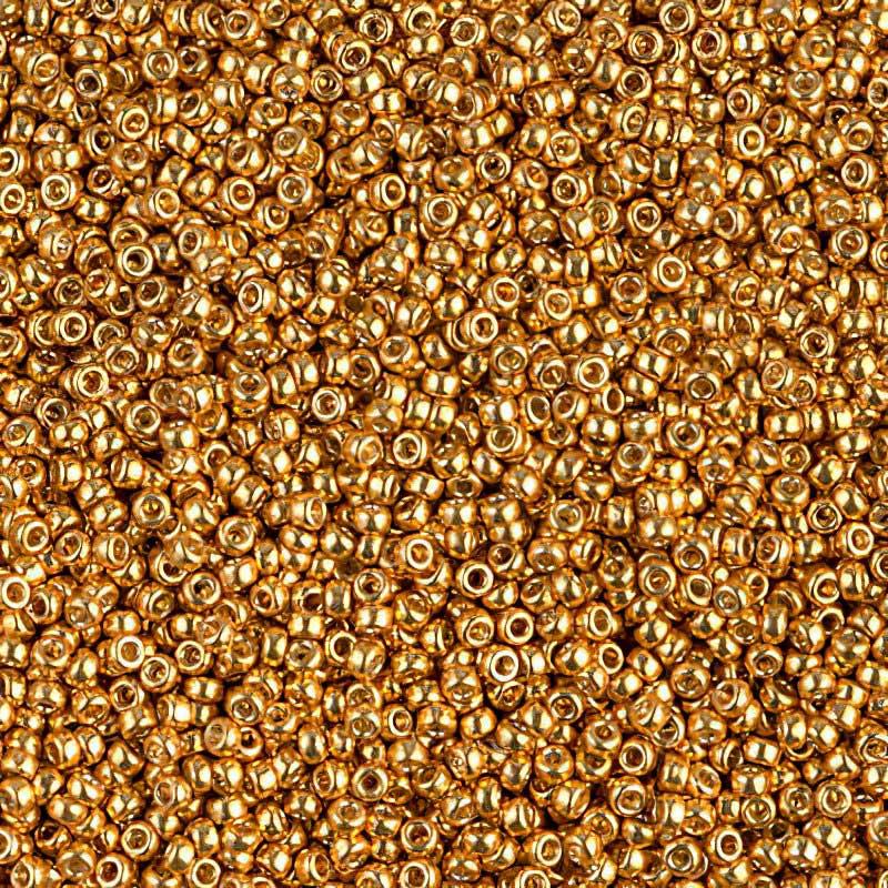 mb15-4203 Japanese Seedbeads - 15/0 Miyuki Seedbeads - Duracoat Galvanized Yellow Gold