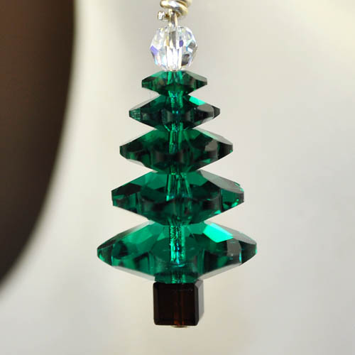 s26986 Holiday Earring Kits -  O Crystal Tree - Emerald Fir