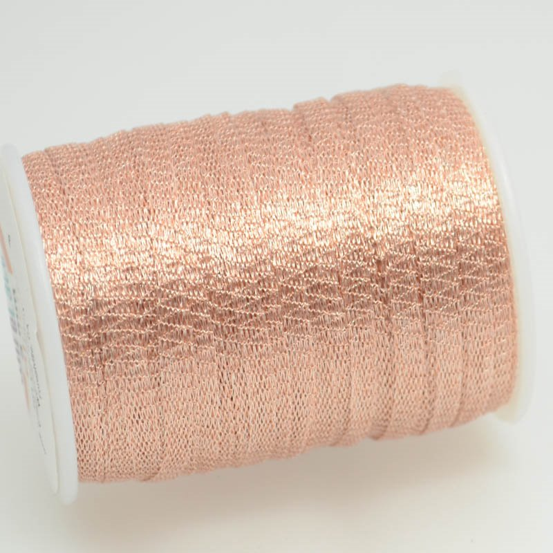 s38771 Stringing - 3mm Wire Lace Ribbon - Blush (Yard)