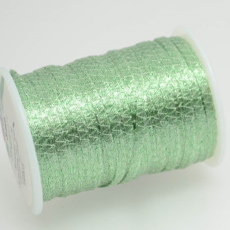 s38773 Stringing - 3mm Wire Lace Ribbon - Seafoam (Yard)