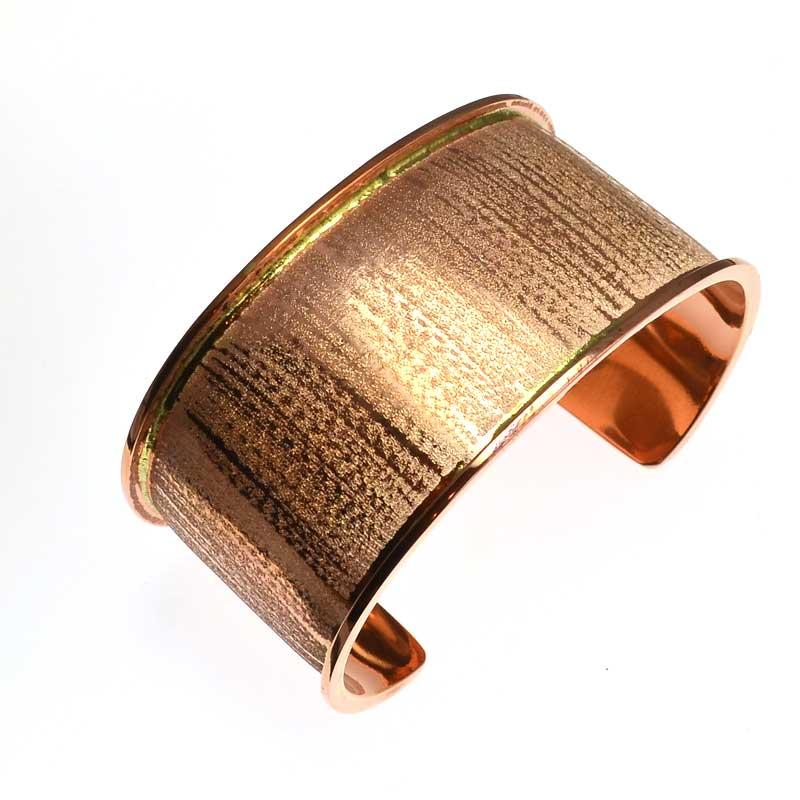 s39032 Channel Bracelet Blank -  Wide Cuff - Copper Plated