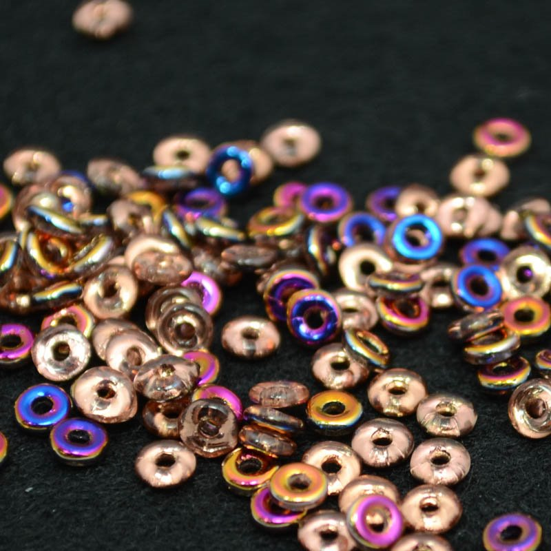 s39080 Czech Seedbeads -  O Beads - Crystal Sliperit