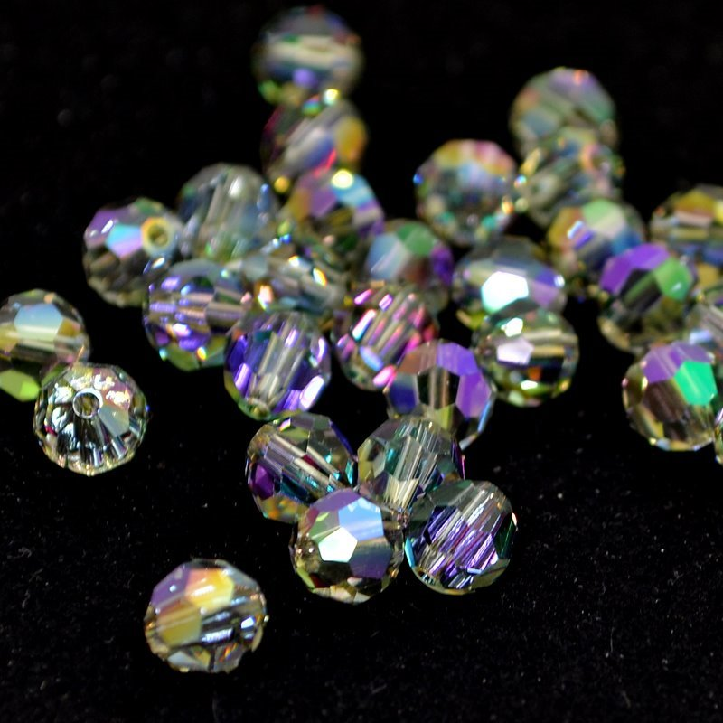 s48696 Swarovski Bead - 6mm Faceted Round (5000) - Crystal Paradise Shine (10)