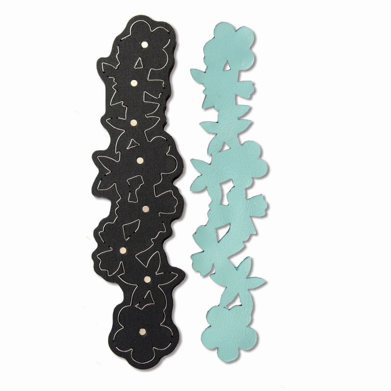 s49582 Sizzix -  Movers & Shapers Magnetic Die - Floral Bracelet