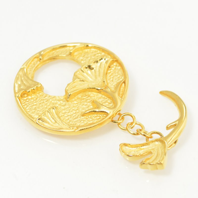 s49625 Findings - Toggle Clasp -  Gingko - Goldplated