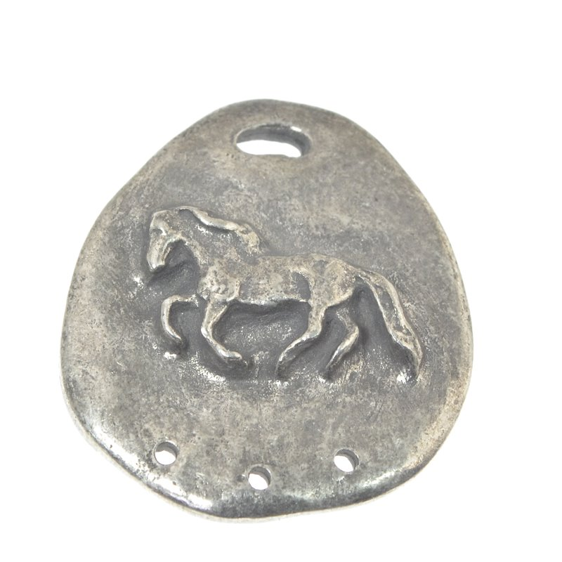 s49953 Metal Pendant -  Rough Pony - Antiqued Pewter