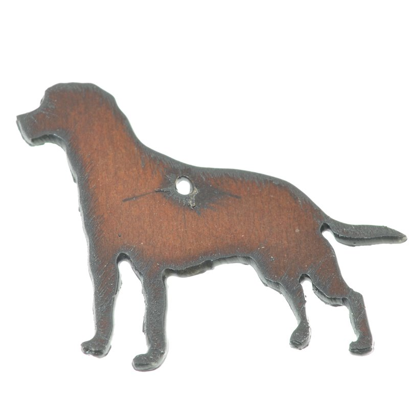 s49957 Stamped Metal Components -  Dog - Retriever - Rusted Iron
