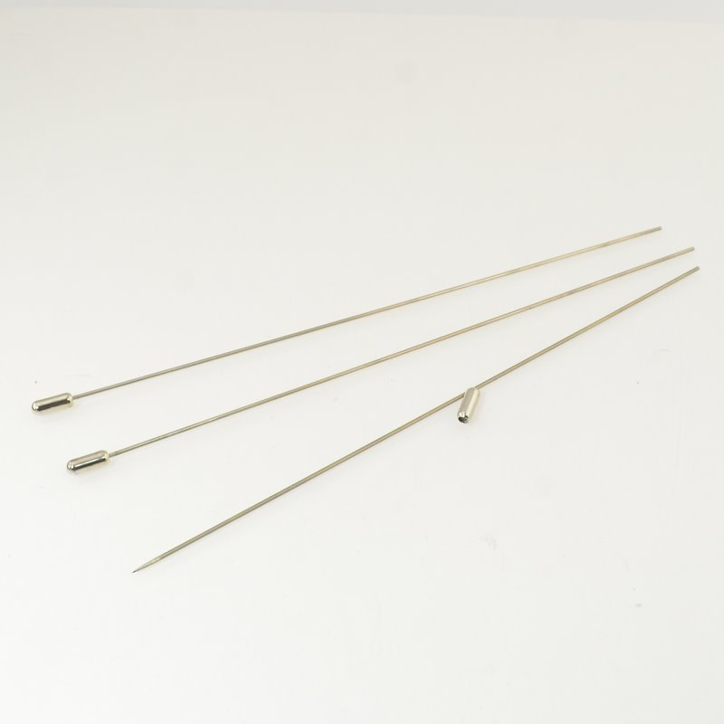 s49966 Findings - 7 inch Hat Pin - with end - Silvertone