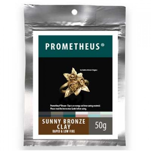 s50896 Metal Clay -  Prometheus - Sunny Bronze Clay (50 grams)