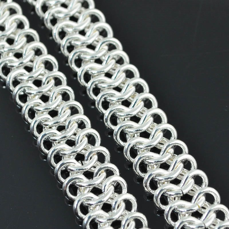 s51025 Chain - 11 mm Cheater Chain Maille - Silver (foot)
