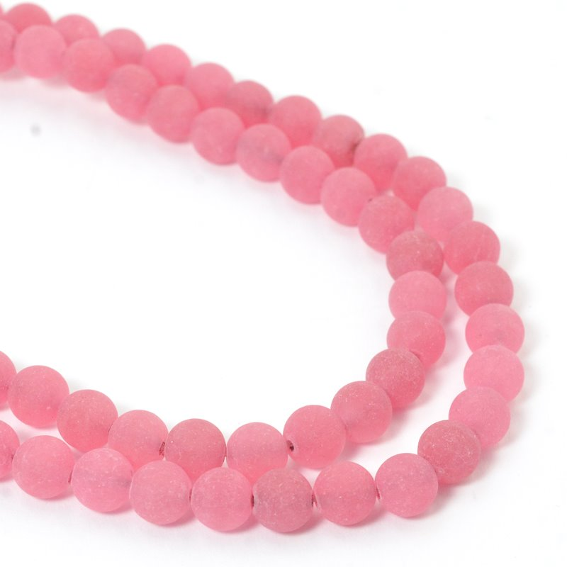 s57397 Glass Beads Round - Frosted 6mm - Fireweed (strand)