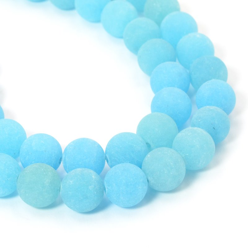 s57426 Glass Beads Round - Frosted 8mm - Summer Sunrise(strand)