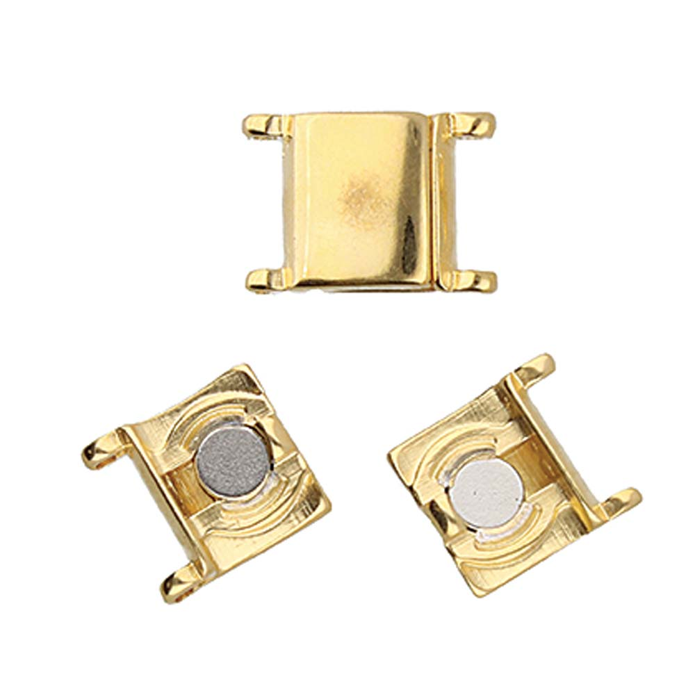 s61218 Cymbal Clasp -  Axos II-Delica Magnetic Clasp - Gold Plated