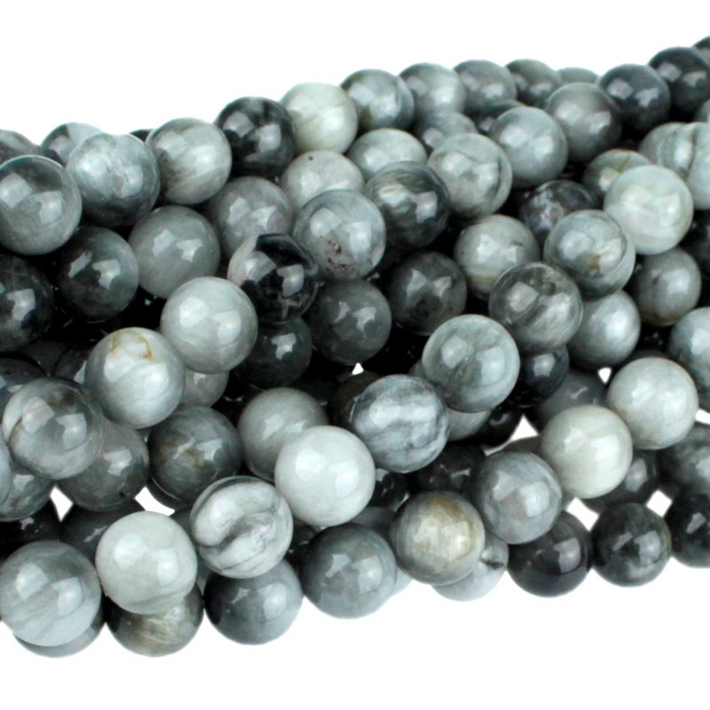 s63107 Stone Beads - 8mm Round - Cat