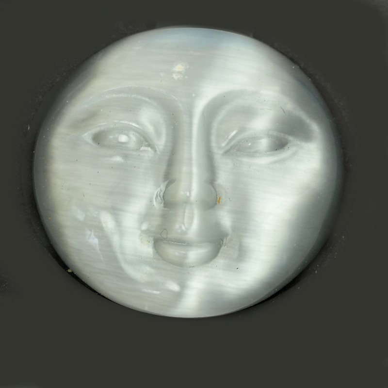 s63218 Cabochon - 25mm Round Moon Face - Cat
