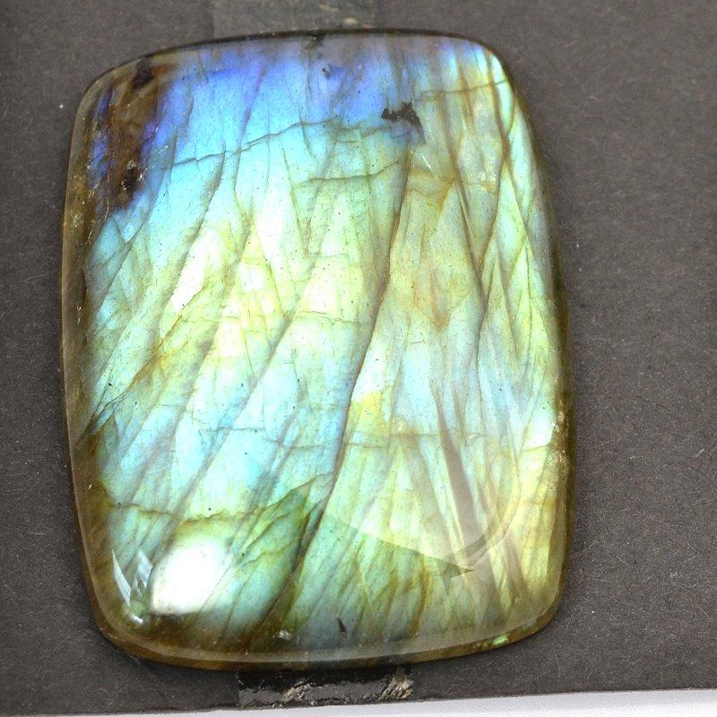 s63254 OOAK Stone Cabochon - 30x40mm Rectangle - Labradorite