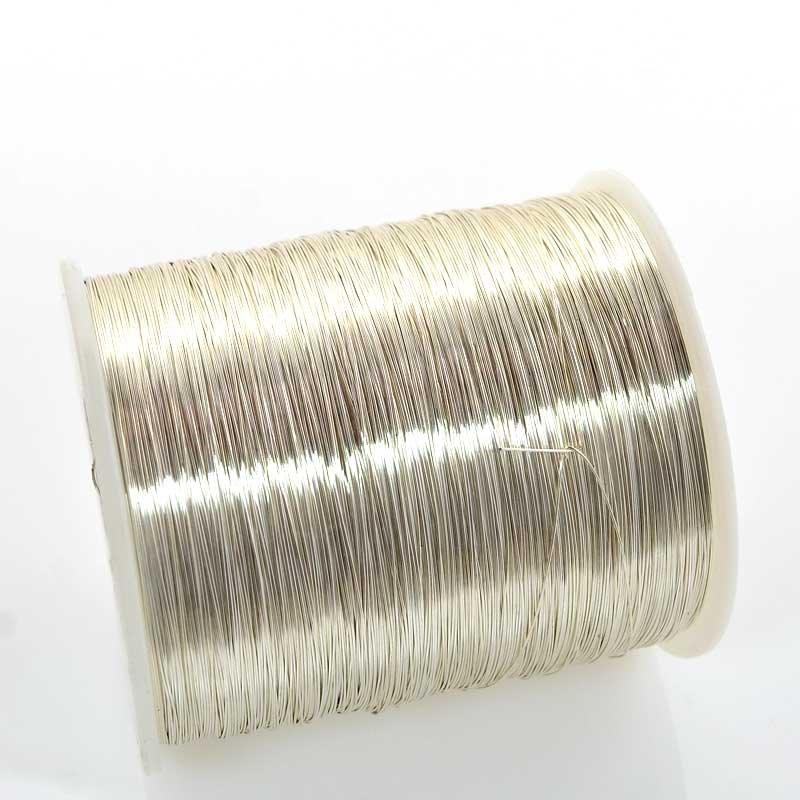 s63426 ParaWire - 28ga Round Wire - Non Tarnish Silver (Spool)