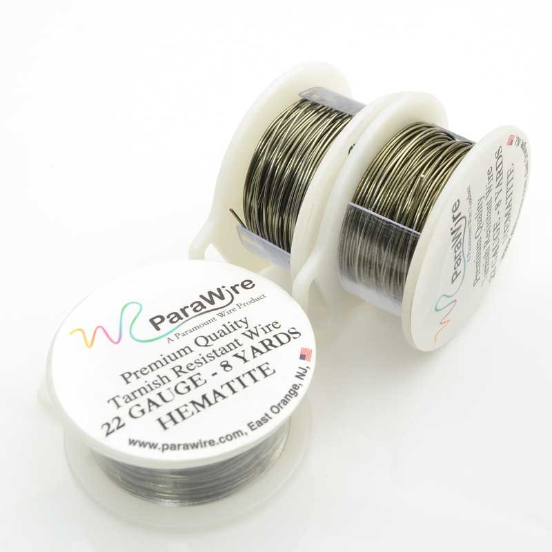 s63430 ParaWire - 22ga Round Wire - Hematite (Spool)