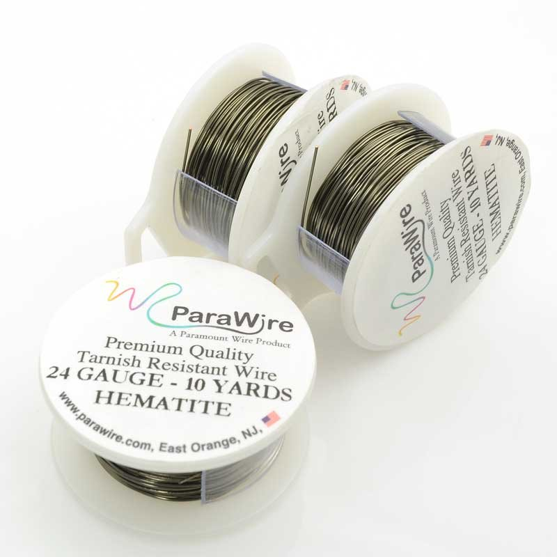 s63431 ParaWire - 24ga Round Wire - Hematite (Spool)