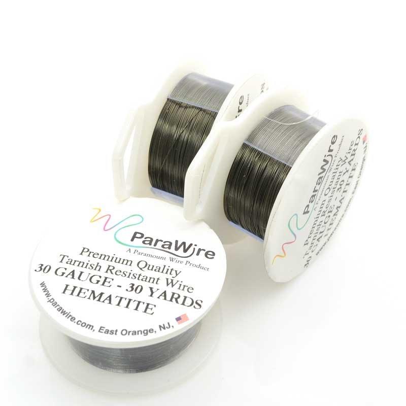 s63434 ParaWire - 30ga Round Wire - Hematite (Spool)
