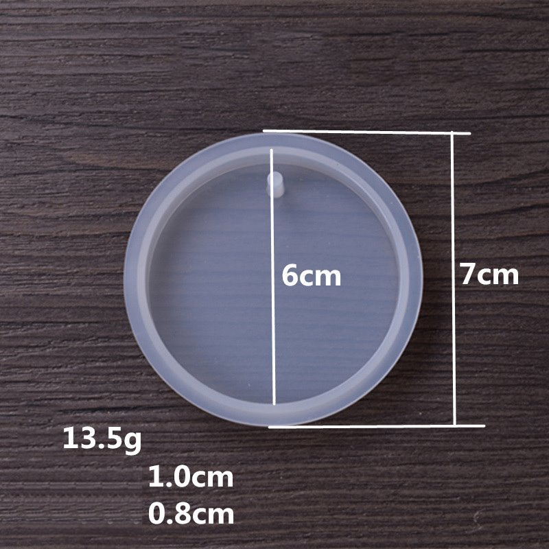 s63454 Mold - 60mm Pendant Round with Hole