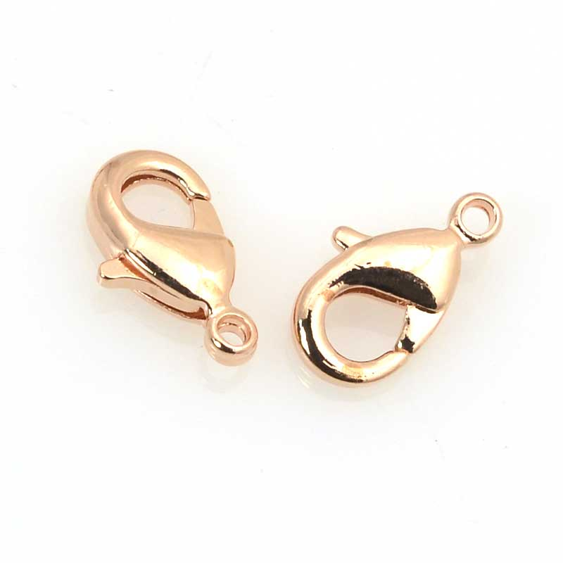 s63524 Findings - Clasp - 9mm Lobster Claw - Rose Gold (6)