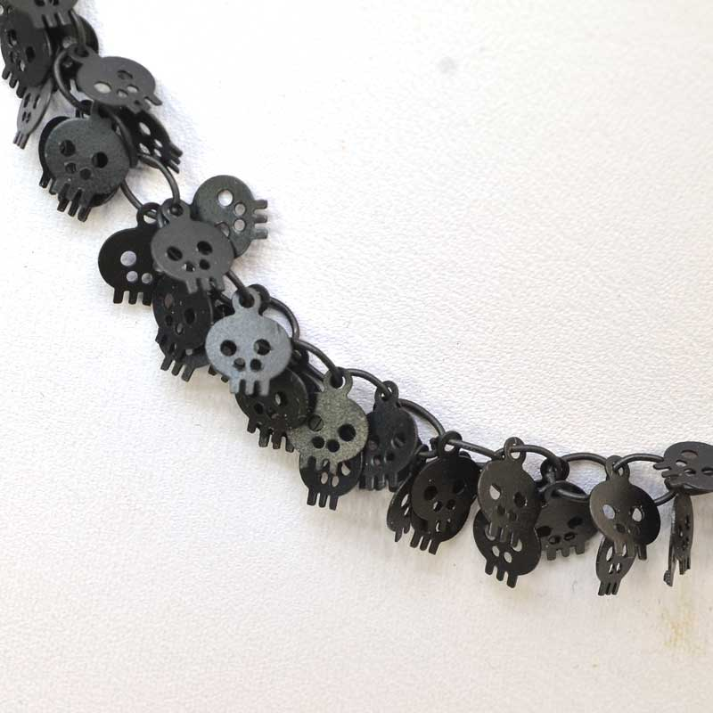 s63528 Chain - 6mm Skull Chain - Matte Black (foot)