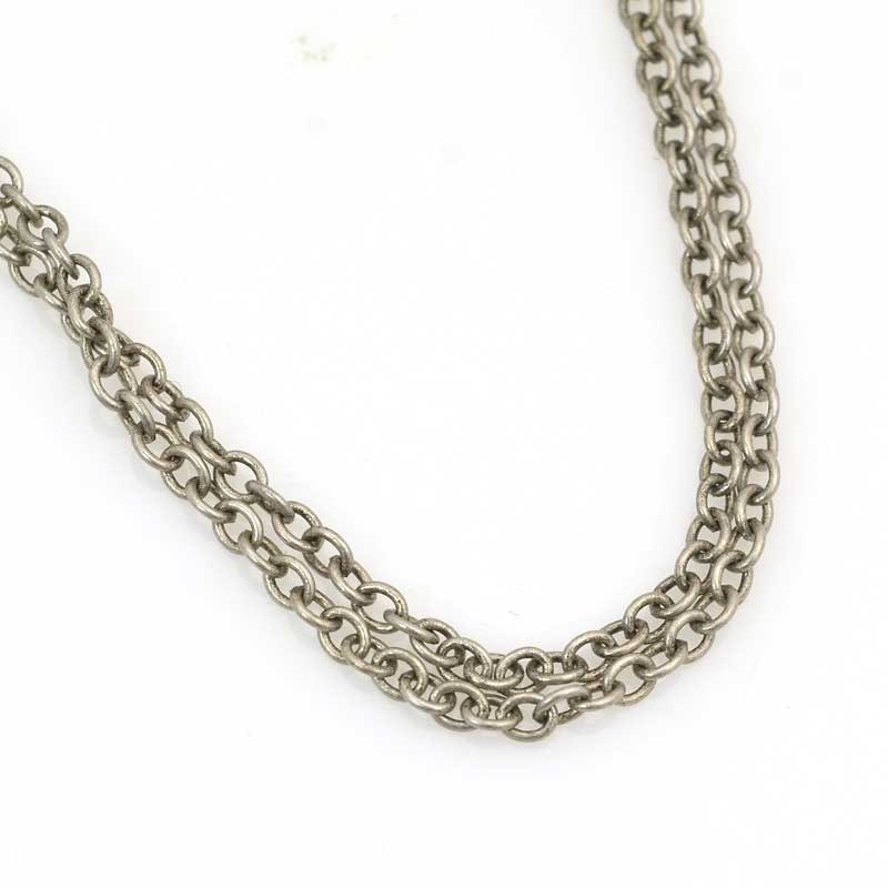 s63533 Chain - 2.5mm Round Wire Cable Chain - Antiqued Silver (foot)