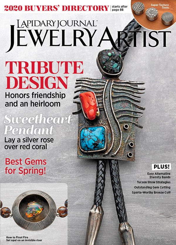 s63570 Magazine - Lapidary Journal Jewelry Artist -  2020 - January - February