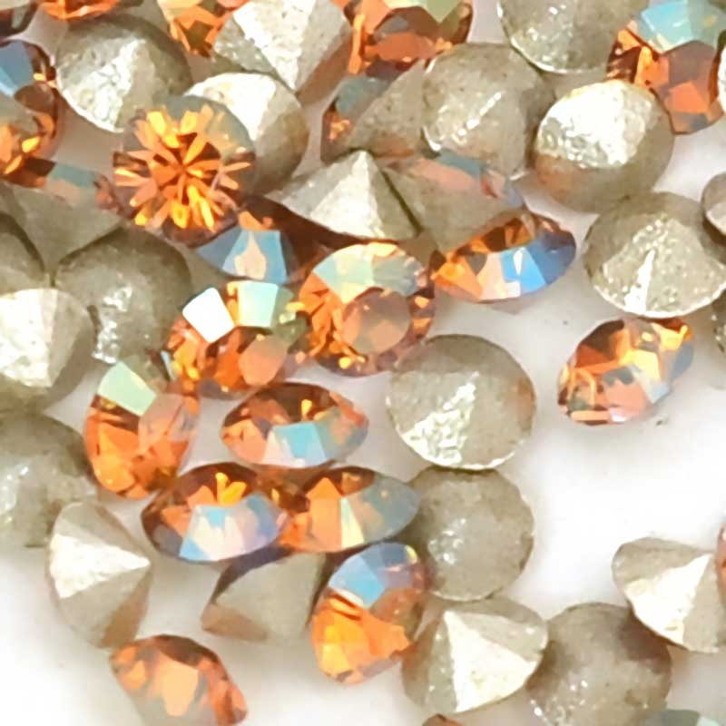 s63714 Swarovski - Rhinestones - pp10 Chaton (Article 1028) (Foiled) - Crystal Copper (1440)