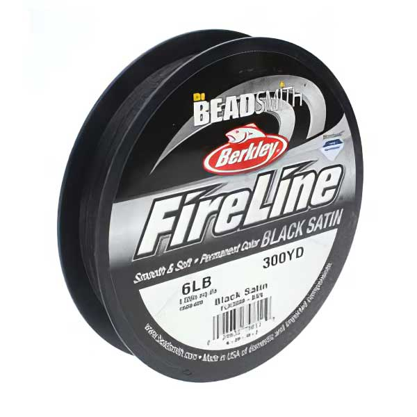 s63733 Thread - .006in Fireline - Braided Bead Thread - Black (Big Spool)