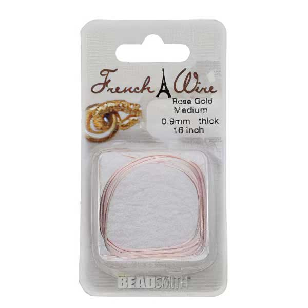s63735 Findings - Medium French Wire - Rose Gold (Pack)