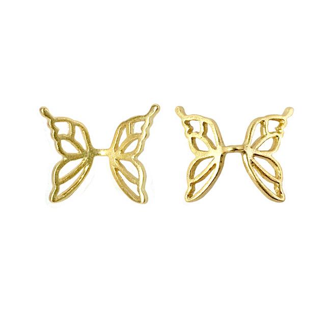s63932 Metal Bead -  Butterfly Wings - Vermeil