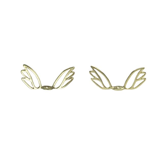s63933 Metal Bead -  Angel Wings - Vermeil