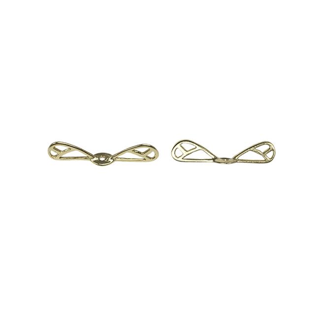 s63936 Metal Bead -  Dragonfly Wings - Vermeil