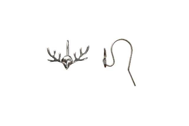 s63949 Findings - Earring Hooks -  Antler Hooks - Sterling (Pair)