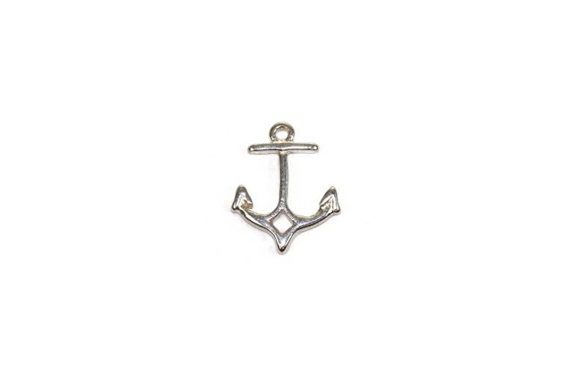s63956 Charm -  Anchor - Sterling Silver