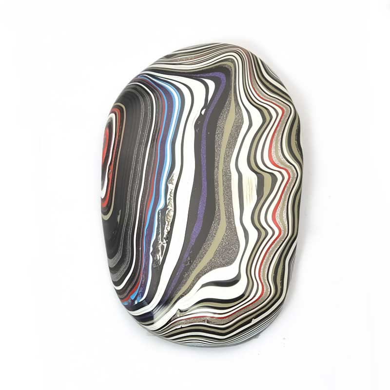 s63980 OOAK Cabochon -  Freeform Oval - Fordite