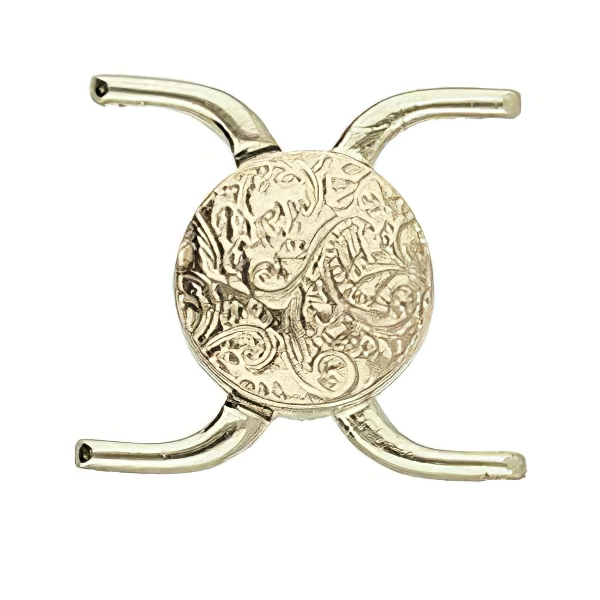 s64084 Cymbal Clasp -  Souda II - 8/0 - Magnetic Clasp - Antiqued Brass