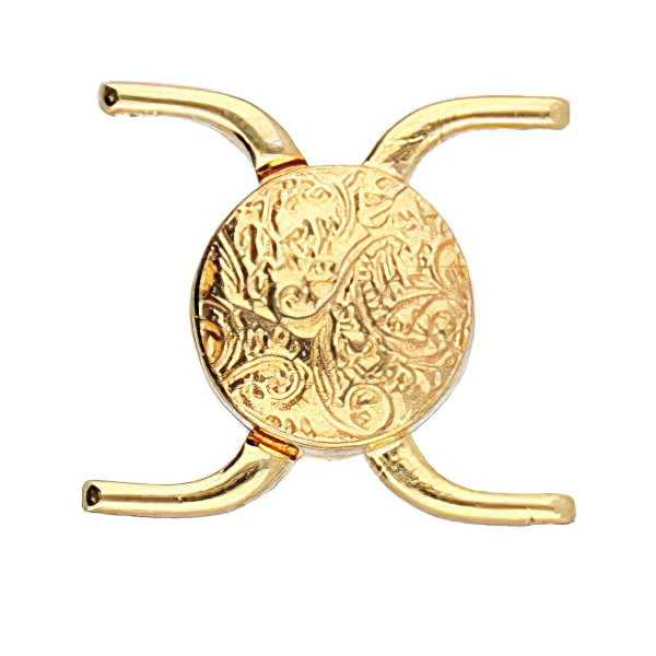 s64085 Cymbal Clasp -  Souda II - 8/0 - Magnetic Clasp - Bright Gold Plated