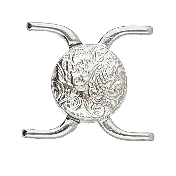s64086 Cymbal Clasp -  Souda II - 8/0 - Magnetic Clasp - Antiqued Silver