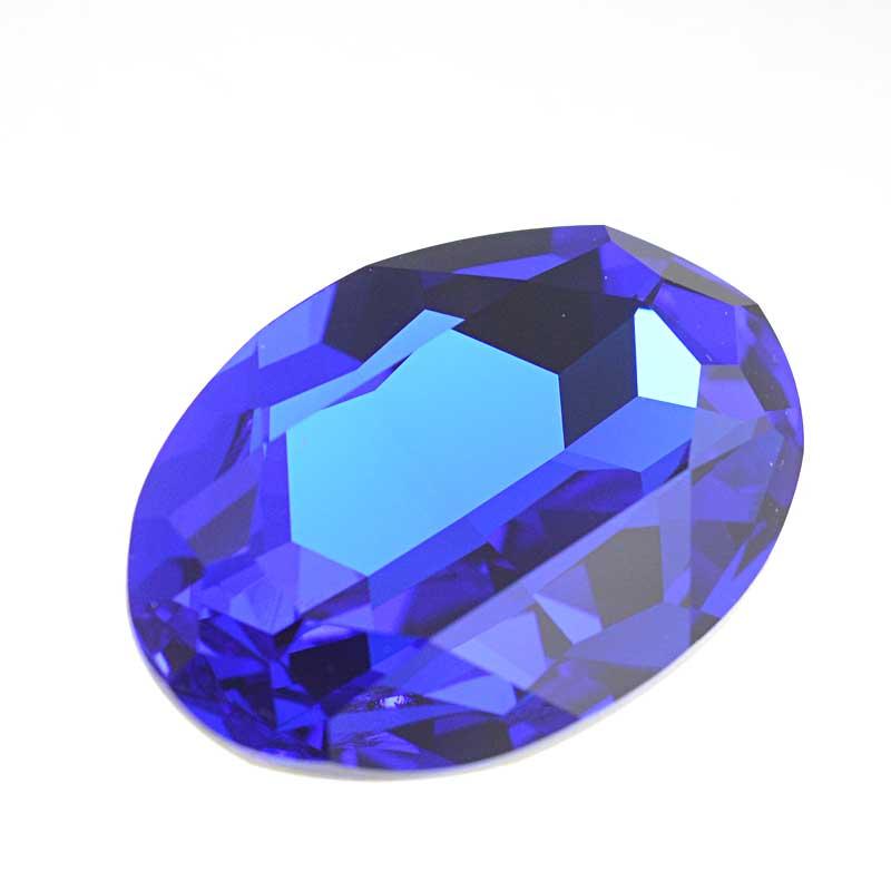 s64094 Swarovski Fancy Stone - 22x30mm Faceted Oval (4127) - Majestic Blue