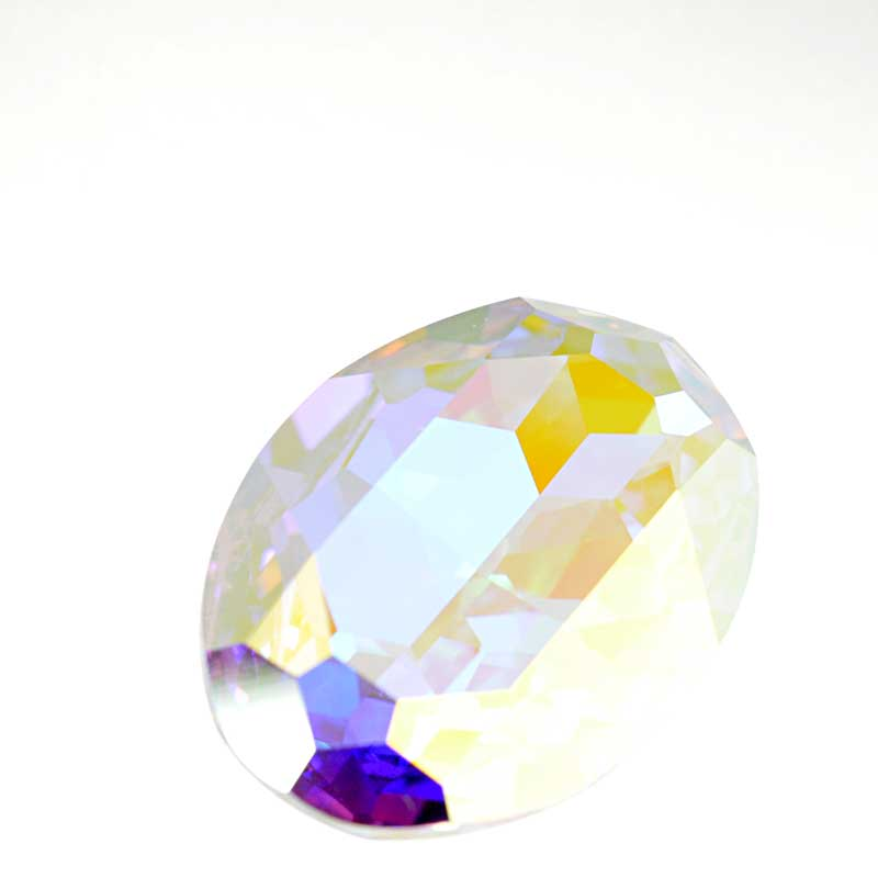 s64095 Swarovski Fancy Stone - 22x30mm Faceted Oval (4127) - Crystal AB