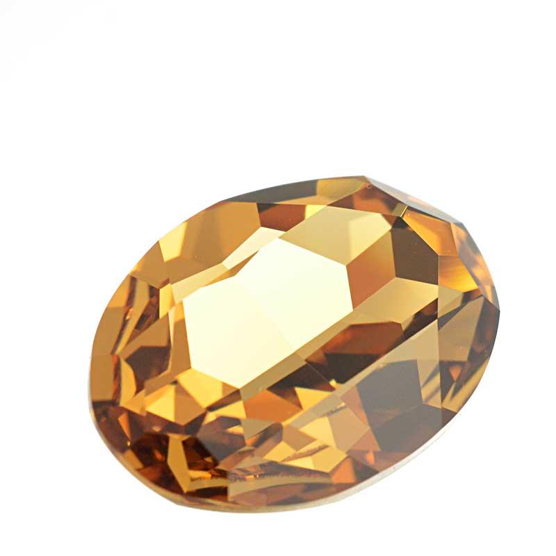 s64096 Swarovski Fancy Stone - 22x30mm Faceted Oval (4127) - Light Colorado Topaz