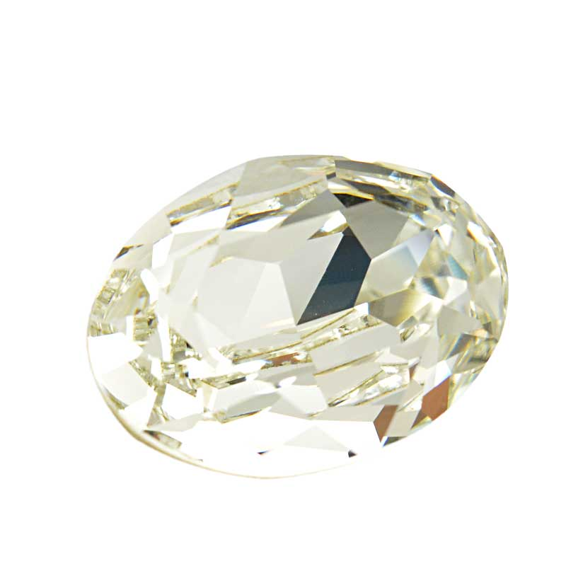 s64097 Swarovski Fancy Stone - 18x25mm Faceted Oval (4120) - Crystal