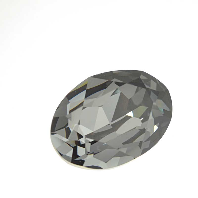 s64098 Swarovski Fancy Stone - 18x25mm Faceted Oval (4120) - Crystal Silver Night