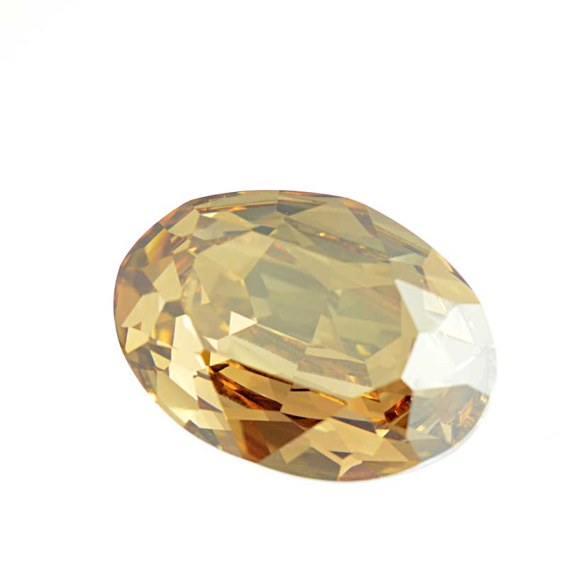 s64099 Swarovski Fancy Stone - 18x25mm Faceted Oval (4120) - Crystal Golden Shadow